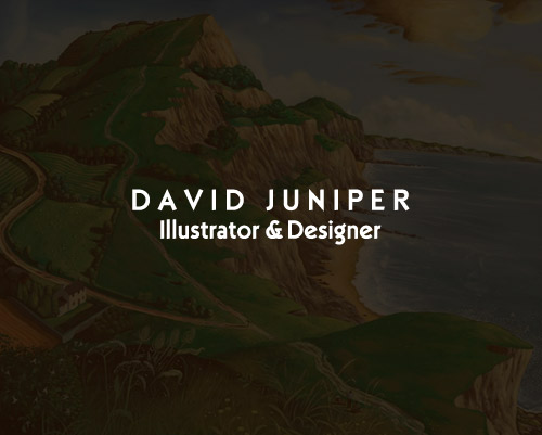 David Juniper Illustrator Designer Website by Just SO Media House