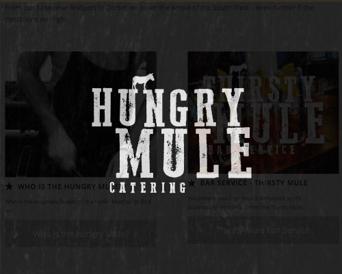 Hungry Mule Catering Website by Just SO Media Lyme Regis Dorset