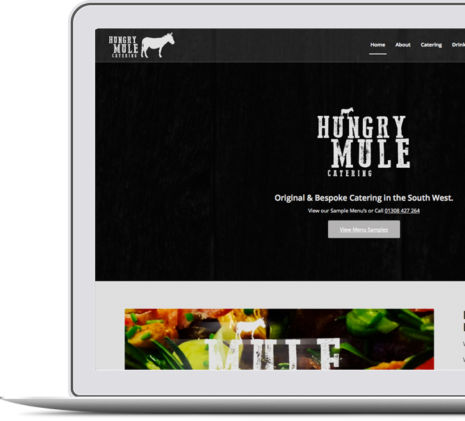 Hungry Mule Responsive Website by Just SO Media in Lyme Regis