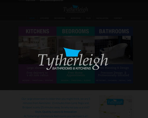 Tytherleigh Bathrooms Website by Just SO Media House